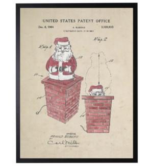 Watercolor Red Santa