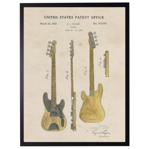 Watercolor Fender Guitar Patent