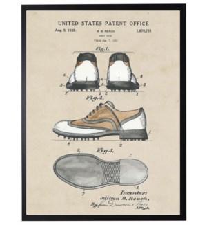 Watercolor Golf Shoe Patent
