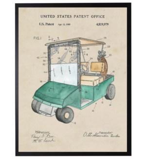 Watercolor Golf Cart Patent
