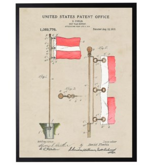 Watercolor Golf Flag Patent