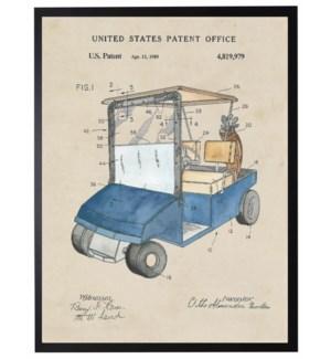 18X24 2400-05 Golf cart patent in blue
