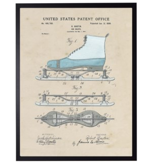 Watercolor  Ice Skate Patent