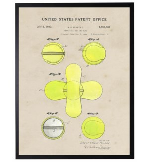 Watercolor Tennis ball Net Patent