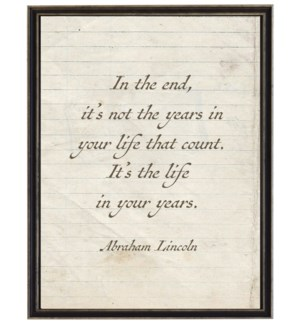 In The End Quote Ab Lincoln