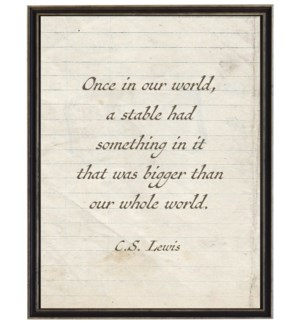 C.S.Lewis stable quote on lined paper