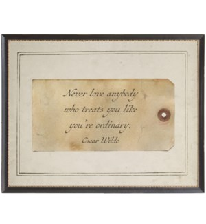 Oscar wilde love quote on sepia tag
