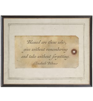 Bibesco Blessed  quote on sepia tag