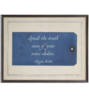 Kuhn speak the truth quote on navy tag