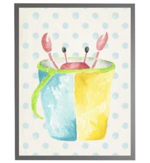 Watercolor crab