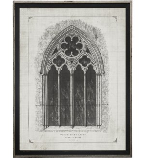 Cathedral Window sketch