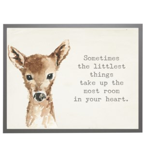 Watercolor Deer with Winnie the Pooh quote
