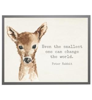 Watercolor Deer with Peter Rabbit quote