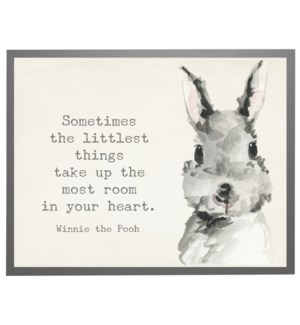 Watercolor Bunny with Winnie the Pooh quote