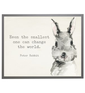 Watercolor Bunny with Peter Rabbit quote