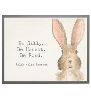 Watercolor Bunny with Silly quote