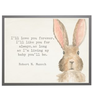 Watercolor Bunny with love you forever quote