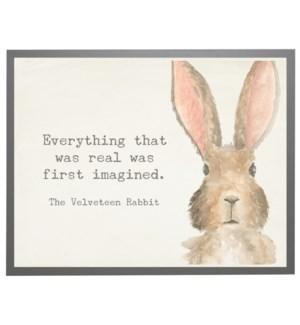 Watercolor Bunny with Velveteen Rabbit quote