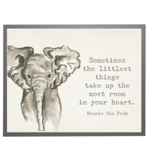 Watercolor Elephant with Winnie the Pooh quote