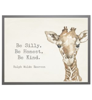 Watercolor Giraffe with Silly quote