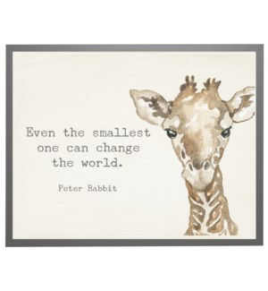 Watercolor Giraffe with Peter Rabbit quote