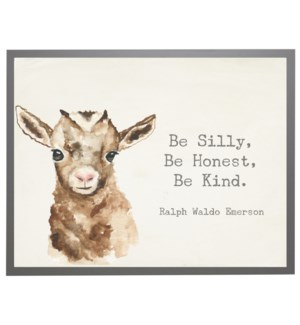Watercolor Goat with Silly quote