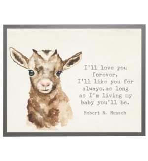Watercolor Goat with love you forever quote