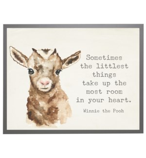 Watercolor Goat with Winnie the Pooh quote