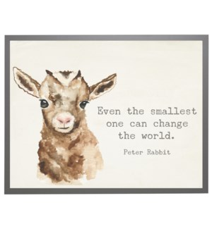 Watercolor Goat with Peter Rabbit quote