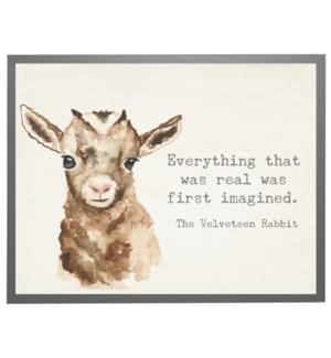 Watercolor Goat with Velveteen Rabbit quote