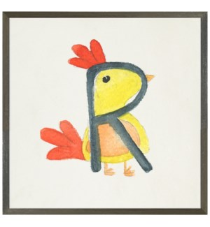 Watercolor R Rooster
