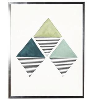 Green three diamonds abstract