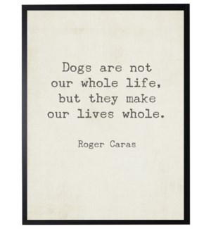 Dogs are not quote, Caras,
