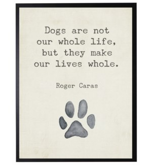 Paw Print with Dogs are not quote