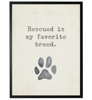 Paw print, Rescued is my favorite quote