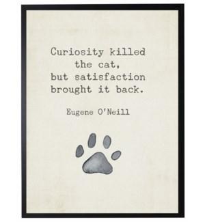 Paw print w/ Curiosity killed quote, Oneill,