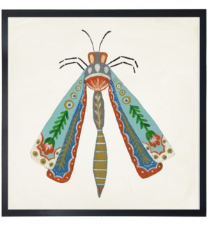 Multi color folk art dragon fly