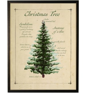 Holiday Christmas tree with definition