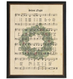 Silent Night with wreath