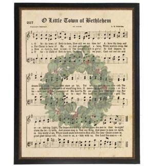 O Little Town of Bethlehem on wreath