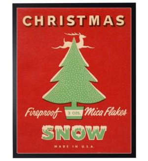 Vintage Christmas snow poster