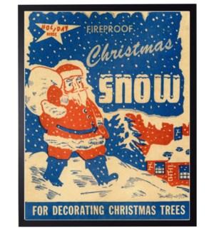 Vintage Christmas snow poster with santa