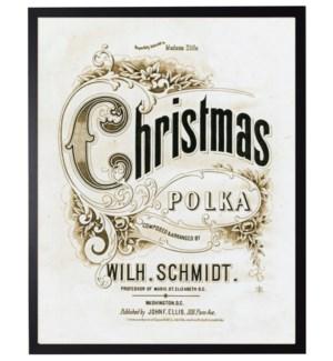 Vintage Christmas Polka music poster