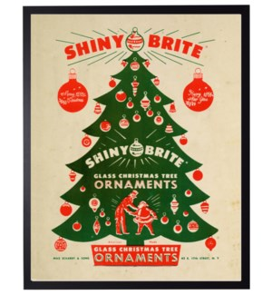 Vintage shiny bright Christmas poster