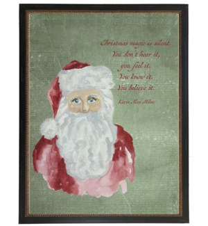Santa with Christmas quote