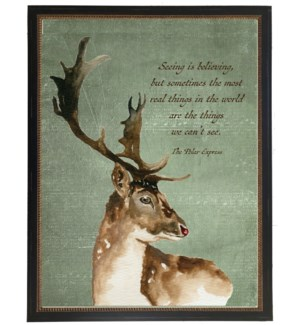 Christmas deer with quote
