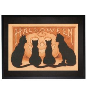 Halloween cats poster