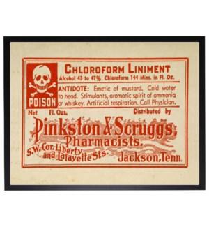 Poison label poster