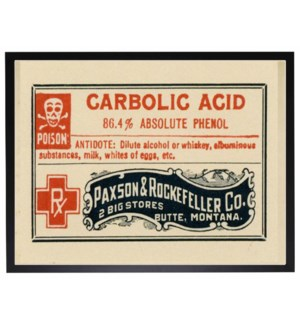 Carbolic acid label poster