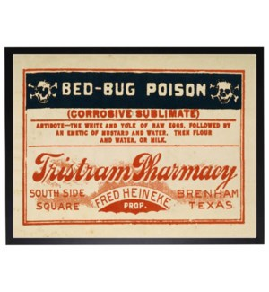 Bed bug poison label poster